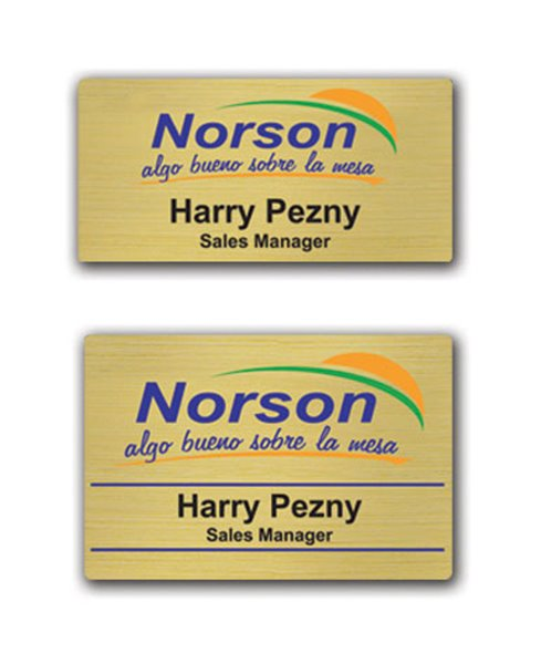 Picture of Gold Digital Name Badge