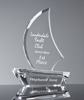 Picture of Crystal Sailboat Award