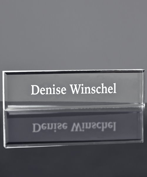 Picture of Thick Acrylic Name Block with Bevel