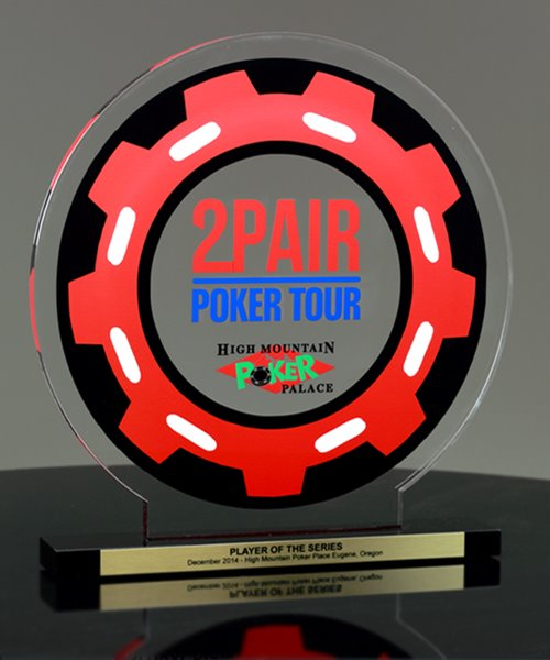 Picture of Acrylic Poker Chip Award