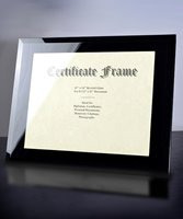 Picture of Black Glass Certificate Frame