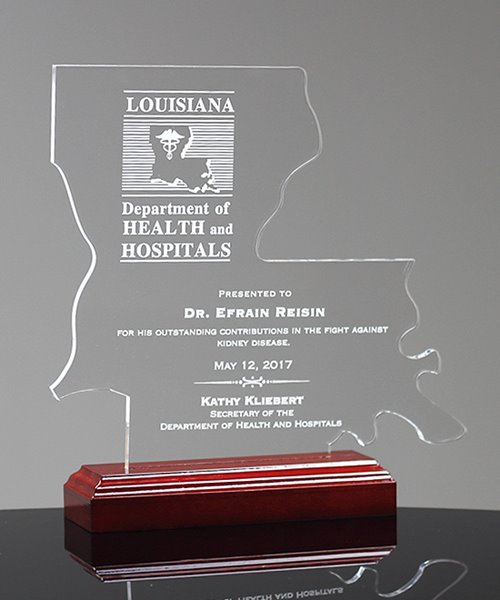 Picture of State of Louisiana Acrylic Award