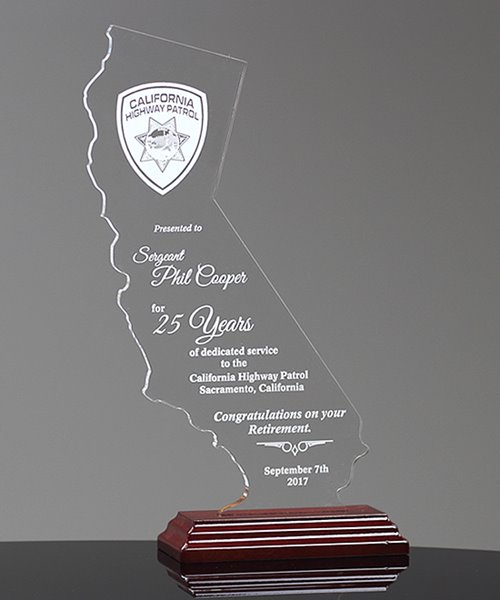 Picture of State of California Acrylic Award