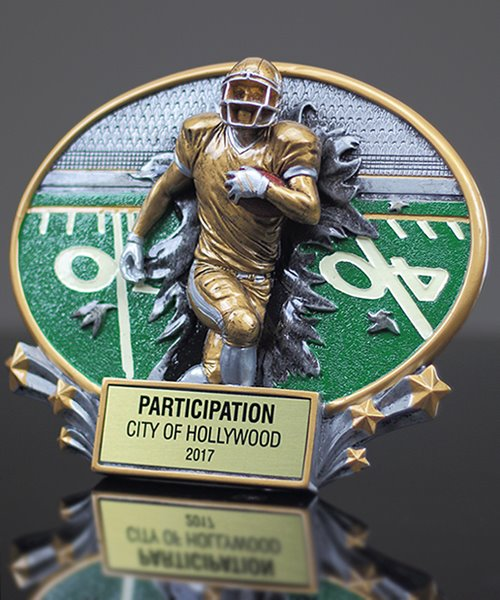 Picture of Burst Through Series Football Trophy
