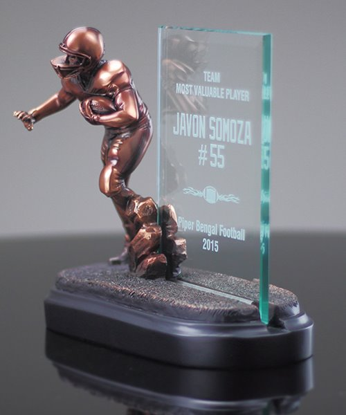 Picture of Football Glass Plaque