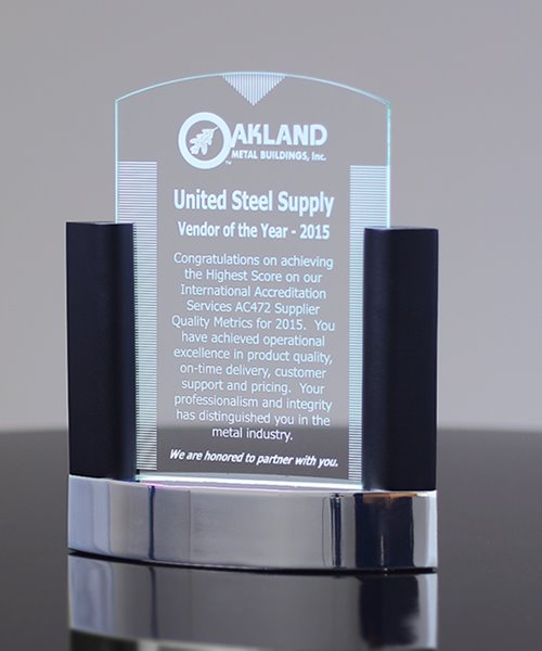 Picture of Neo Classic Glass & Metal Award