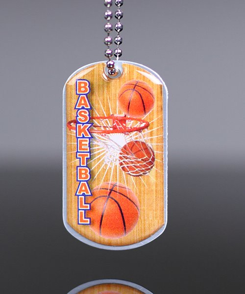 Picture of Basketball Dog Tag