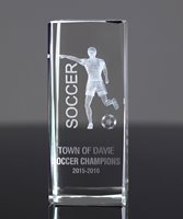 Picture of Soccer 3-D Sports Crystal