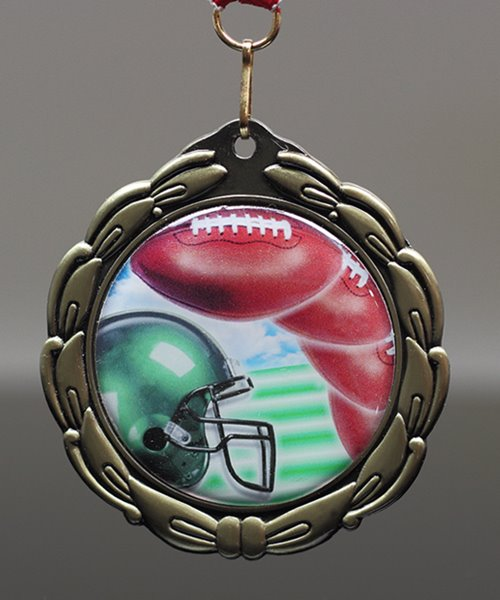 Picture of Epoxy-Domed Football Medal