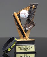 Picture of Baseball Trophy Band Resin