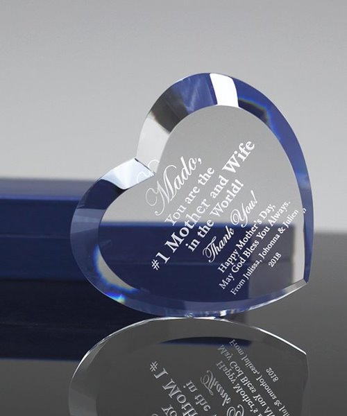 Picture of Beveled Heart Crystal