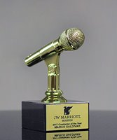 Picture of Gold Microphone Trophy