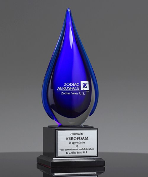 Picture of Anabella Flame Art Glass Award