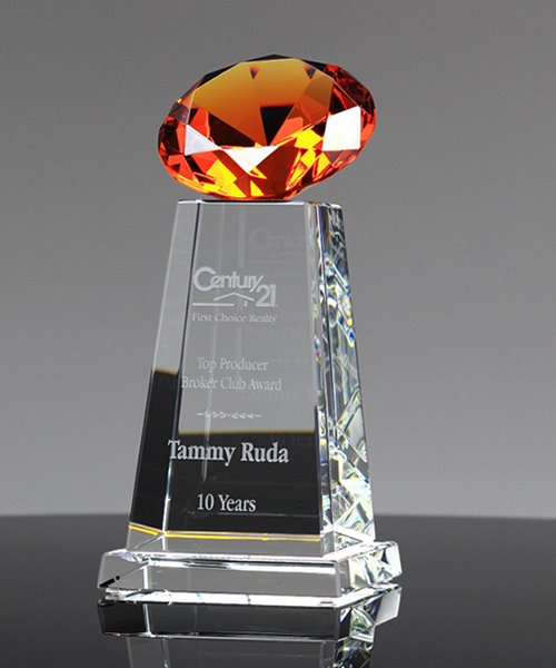 Picture of Diamond Sphere Amber Crystal