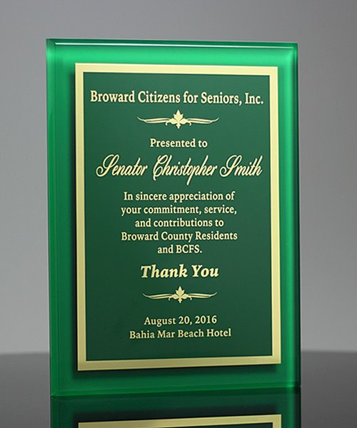 Picture of Green Acrylic Award Plaque