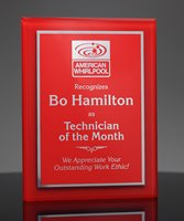 Picture of Red Acrylic Award Plaque