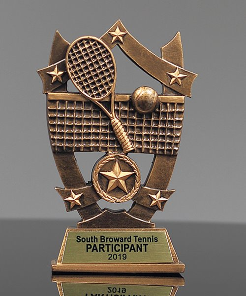 Picture of Star Shield Tennis Trophy