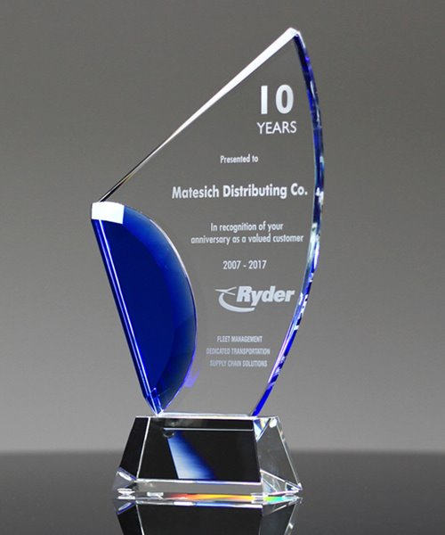 Picture of Avant Blue Crystal Award