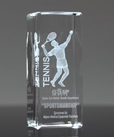 Picture of Tennis 3-D Sports Crystal