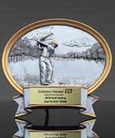 Picture of Silverstone Golf Oval Resin Trophy