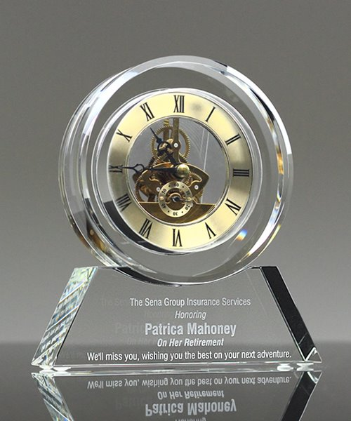 Picture of Crystal Desk Clock Award