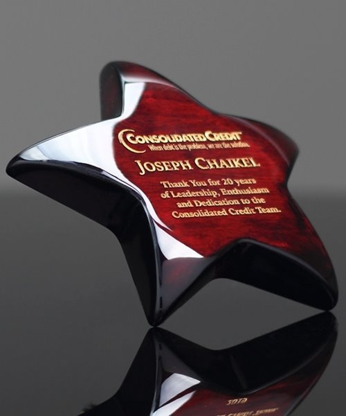 Picture of Rosewood Star Paperweight