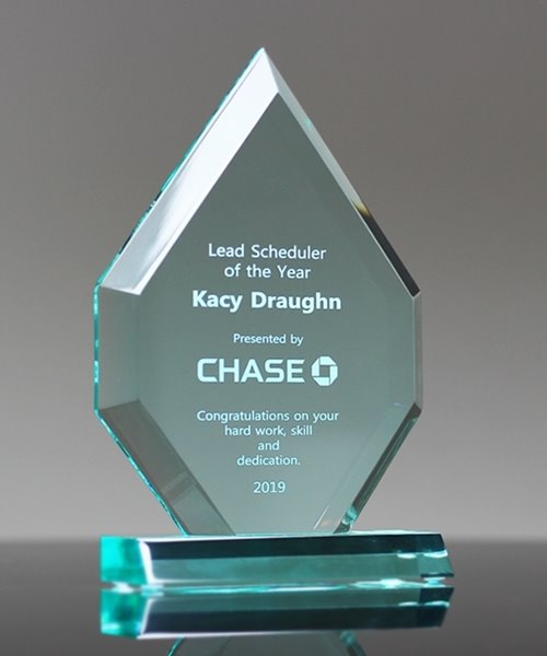Picture of Jade Acrylic Arrowhead Award