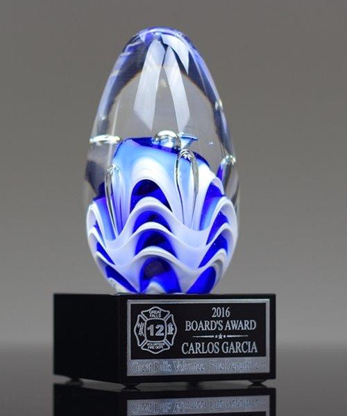 Picture of Azure Flutter Art Glass