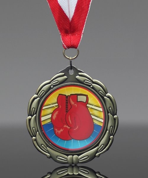 Picture of Epoxy-Domed Boxing Medal