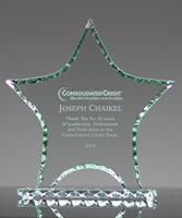 Picture of Pearl Edge Jade Glass Star Award
