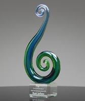 Picture of Art Glass Seaside Swirl