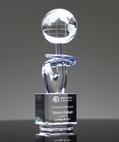 Picture of The Voyager Art Glass World Globe Award