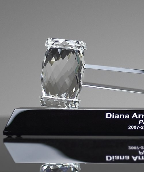 Picture of Faceted Crystal Gavel Award