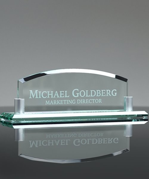Picture of Jade Crystal Name Plate