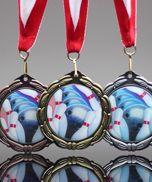 Picture of Epoxy-Domed Bowling Medal
