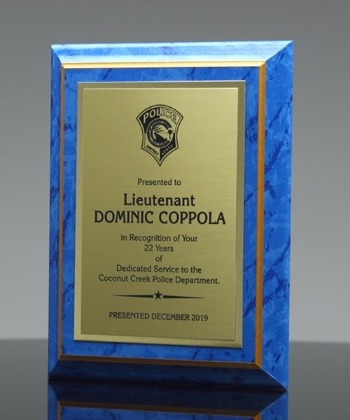 Picture of Blue Marble-Finish Plaque