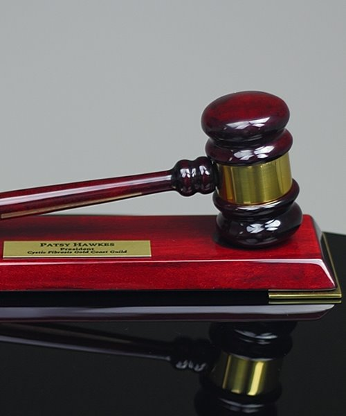 Picture of Deluxe Rosewood Gavel Set