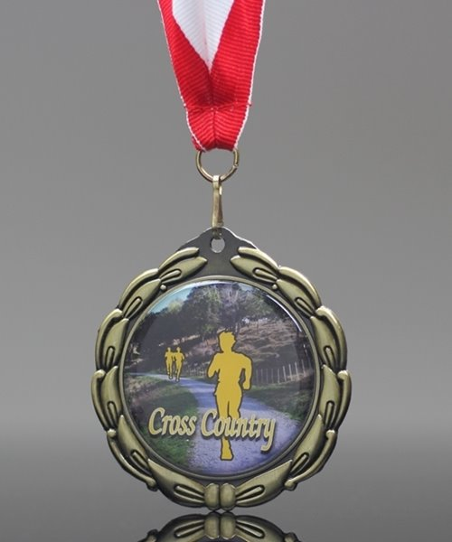 Picture of Epoxy-Domed Cross Country Medal