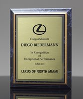 Picture of Black Marble-Finish Plaque