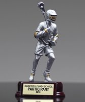 Picture of Silver Tone Lacrosse Sculpture