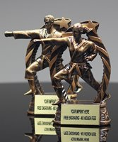 Picture of Star-Flame Martial Arts Trophy