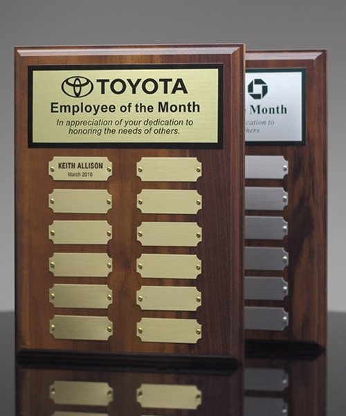 Picture of Employee of the Month Plaques