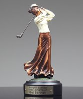 Picture of Premium  Old Fashioned Female Golfer