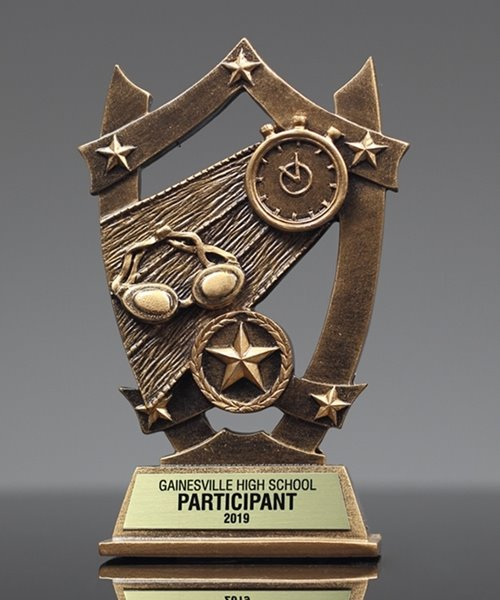 Picture of Star Shield Swimming Trophy