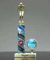 Picture of Swimming Photo Column Trophy
