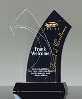 Picture of Tuxedo Wave Crystal Award