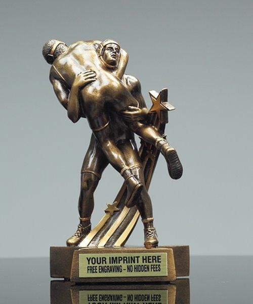 Picture of Superstar Wrestling Sculpture