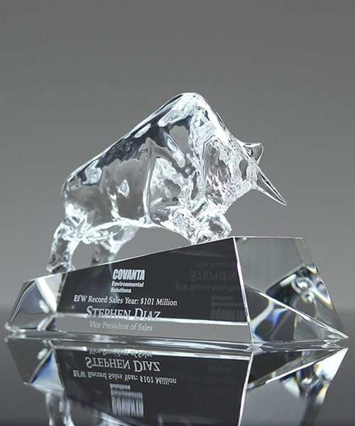 Picture of Clear Crystal Bull