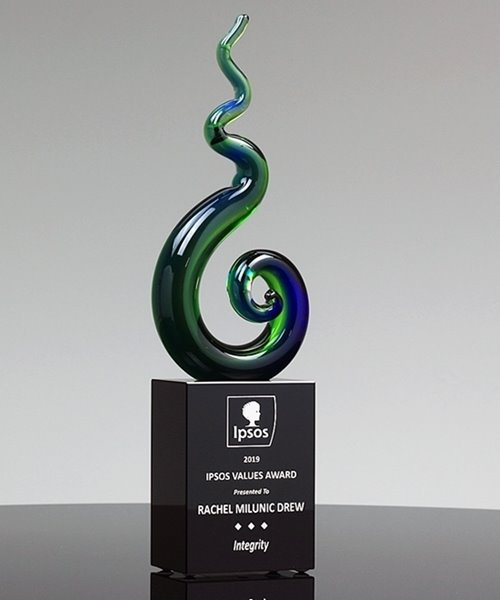 Picture of Jade Spiral Art Glass
