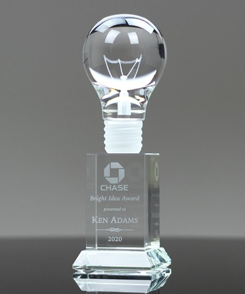 Picture of Crystal Light Bulb Award